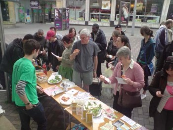Vegan Free Food Giveaway Stall