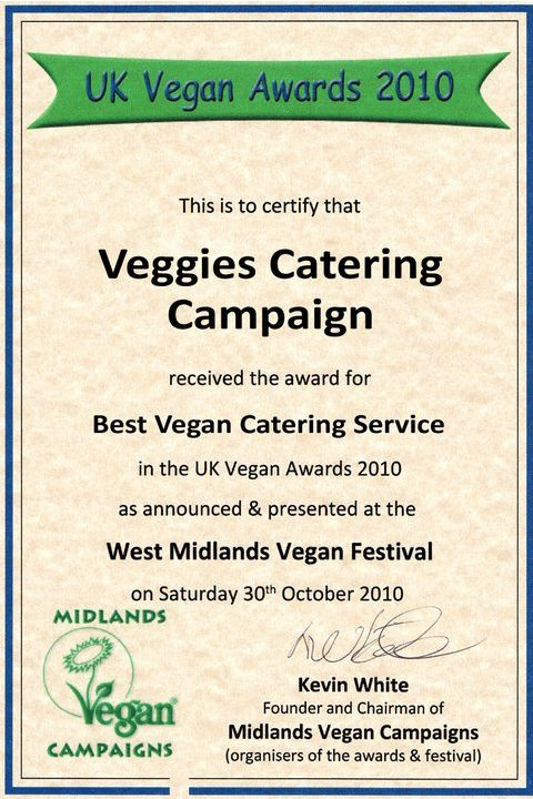 Vegan Award