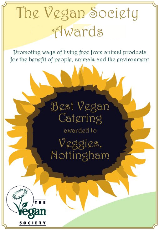 Best Vegan Caterer Award