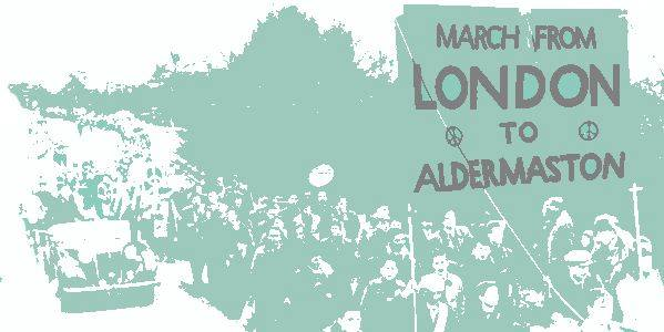 CND Aldermaston Banner