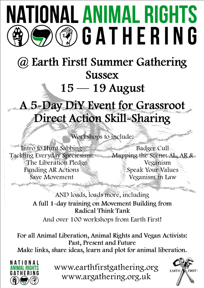Animal Rights Gathering Poster