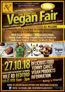 Bedford Vegan Fair flyer