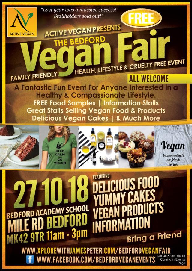 Bedford Vegan Fair flyer