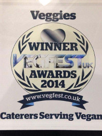 Best Caterer Serving Vegan Food Award Certificate