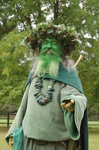 Green Man image from Elvaston Woodland