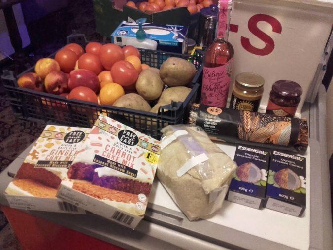 Parcel of food from Veggies Sumac Food Hub