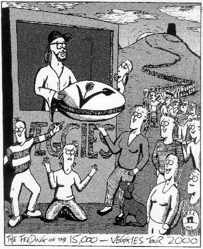 Veggies Glastonbury cartoon