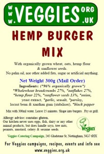 Veggies Hemp Burger Mix