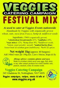 Veggies Vegan Festival Burger Mix Label