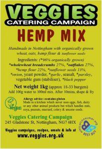 Veggies Vegan Hemp Burger Mix Label