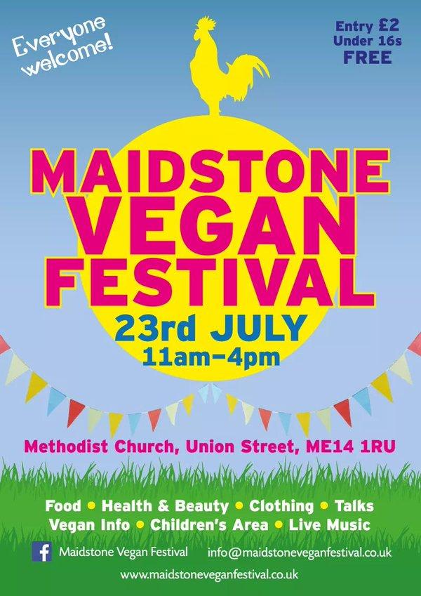 Poster for maidstone Vegan Festival