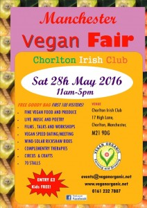 manchester vegan fair flier