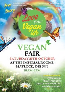 Poster for Matlock Vegan Fair