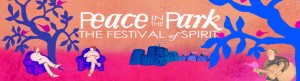 Peace in the Park banner