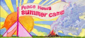 peace news camp banner