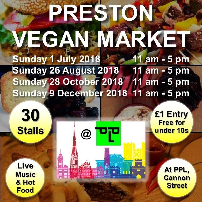 Flier for preston vegan market