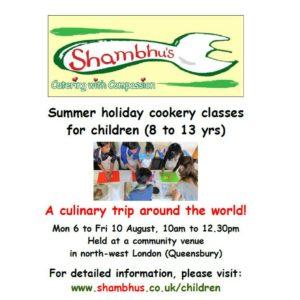flier for shambhu' childrens cokery classess