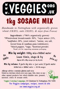 Veggies Sosage Mix Label