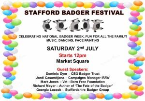stafford badger festival flier