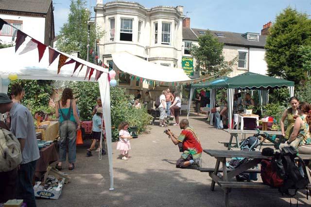 Sumac Centre yard with Crafts Fair