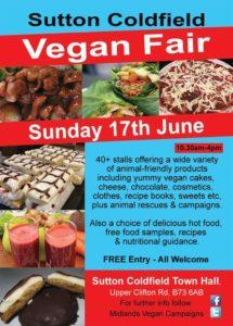 poster for sutton coldfield vegan fair