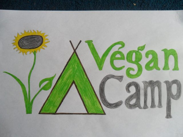 Vegan Camp drawn image