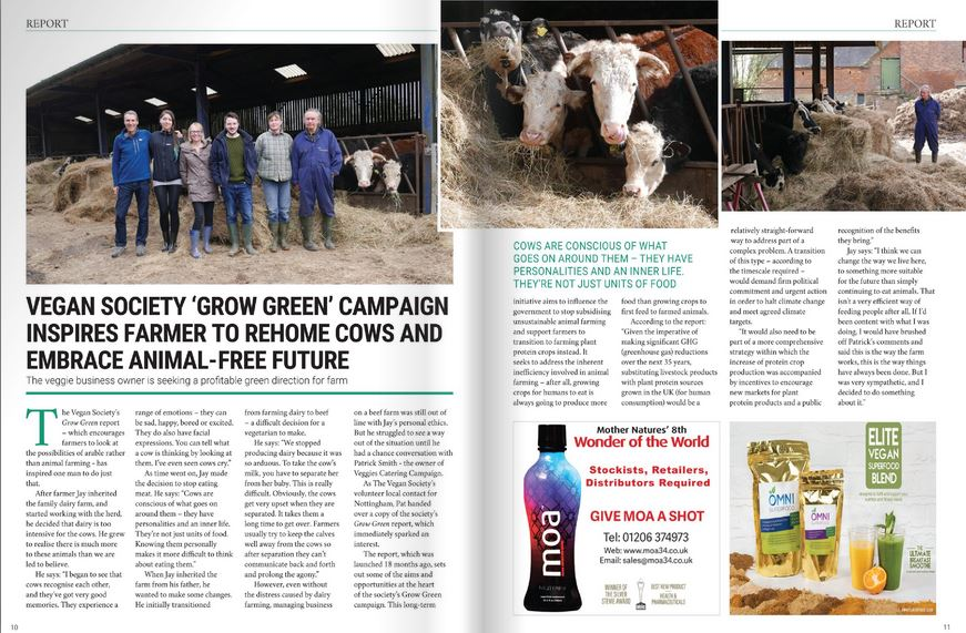 Vegetarian Farmer Jay article in Vegan Trade Journal