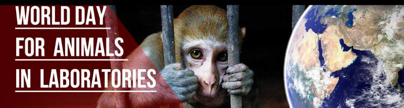 World Day for Animals in Laboratories banner