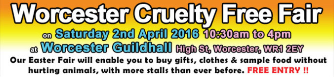 Worcester Cruelty Free Fair banner